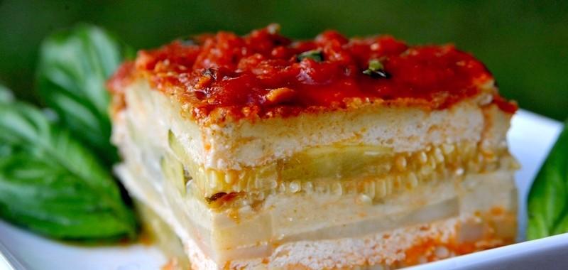 Lazania bez makaronu (z wegańskim serem)
