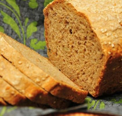 chleb domowy z mąki razowej