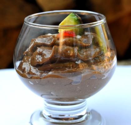 czekoladowy budyń z awokado