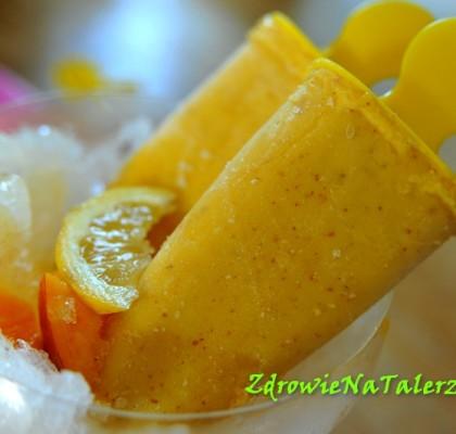 lody wegańskie z mango