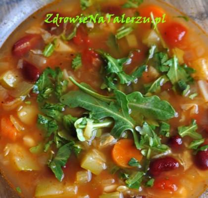 zupa z rukolą