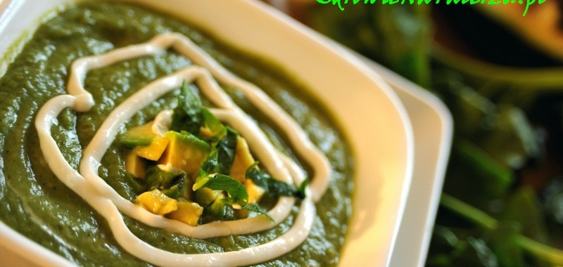 Zupa z zieleninką – brokuły, szpinak i awokado