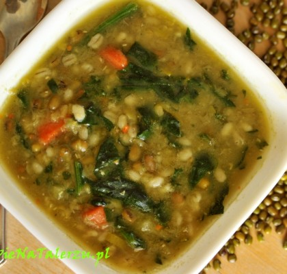 zupa z fasolą mung