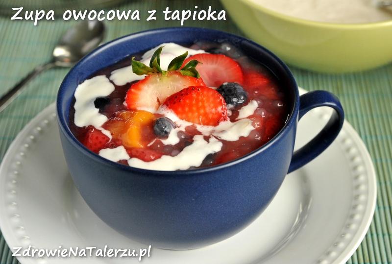 Zupa/deser z tapioką