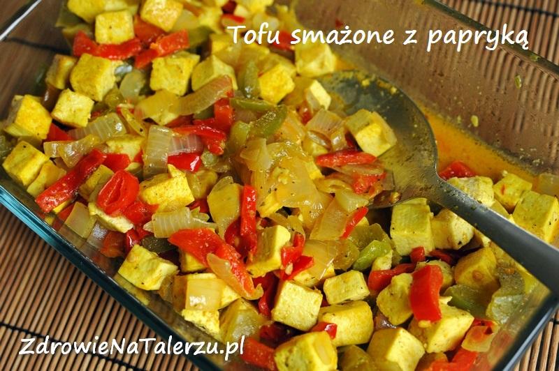 Smażone tofu z paryką