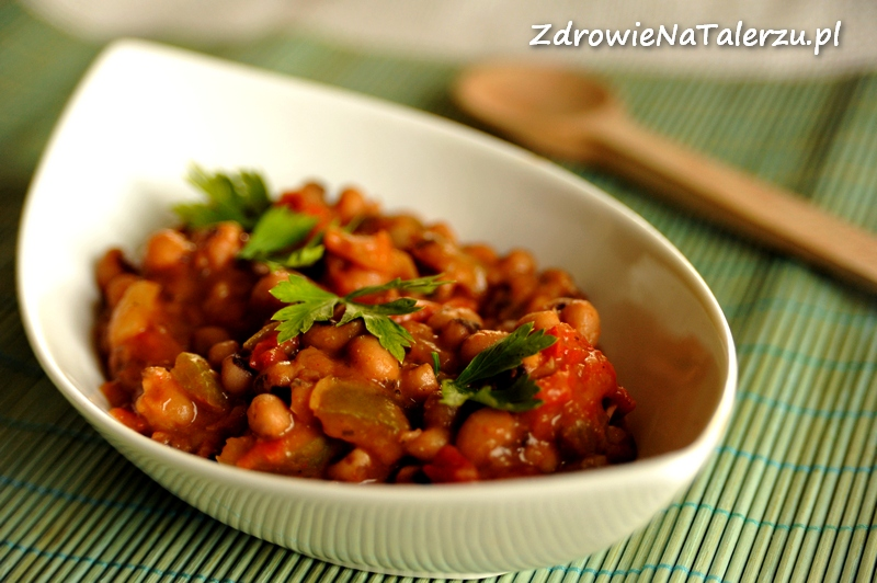 Imbirowa fasolka z pomidorami