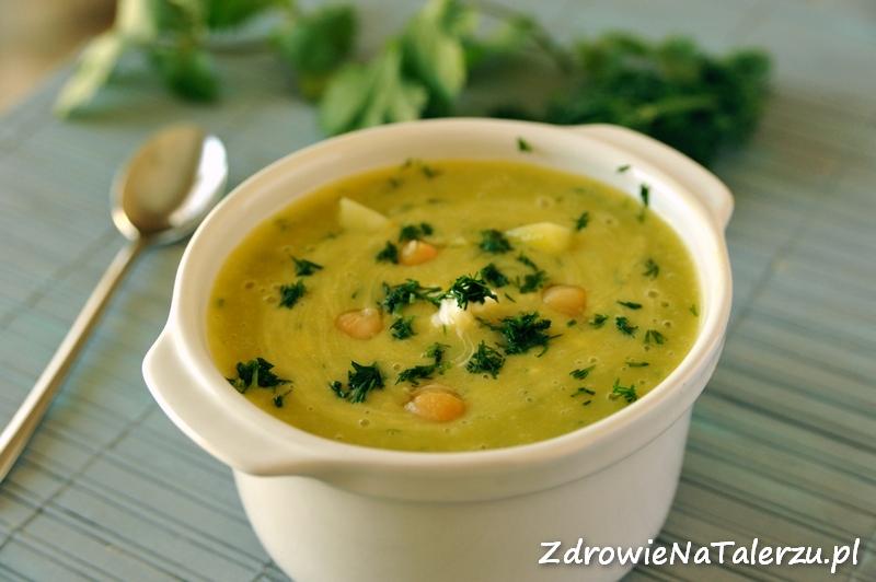 Zupa ziemniaczana z porem i cieciorką