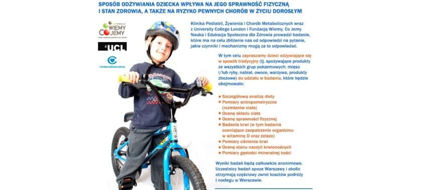 Bezpłatne badania dla chłopców na diecie tradycyjnej (wiek 6-10 lat)