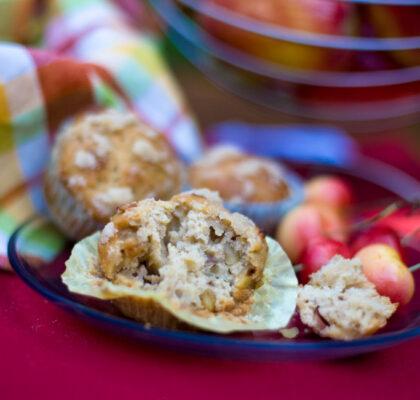 Muffiny jabłkowo orzechowe